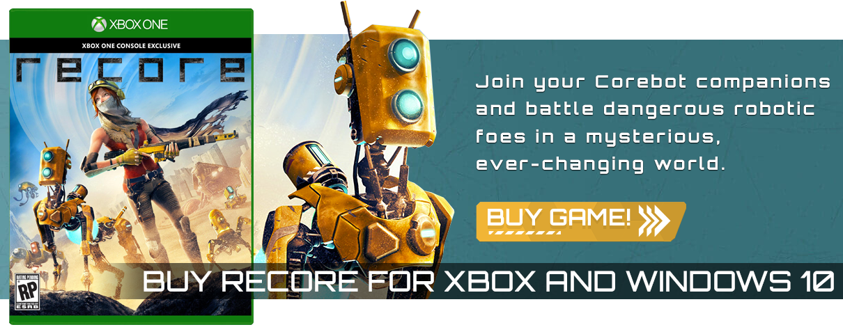 Join your Corebot companions and battle dangerous robotic foes in a mysterious ever-changing world.